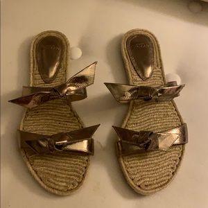 Alexandre Birman Gold Sandals